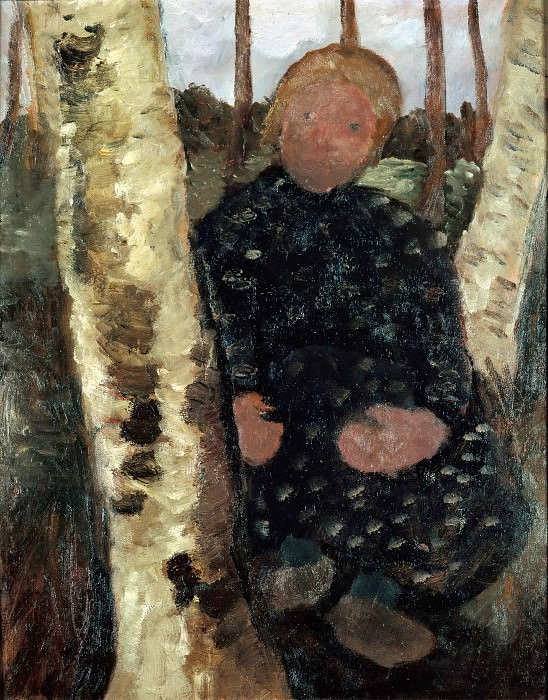 Girl between the Birch Trees. Paula Modersohn-Becker