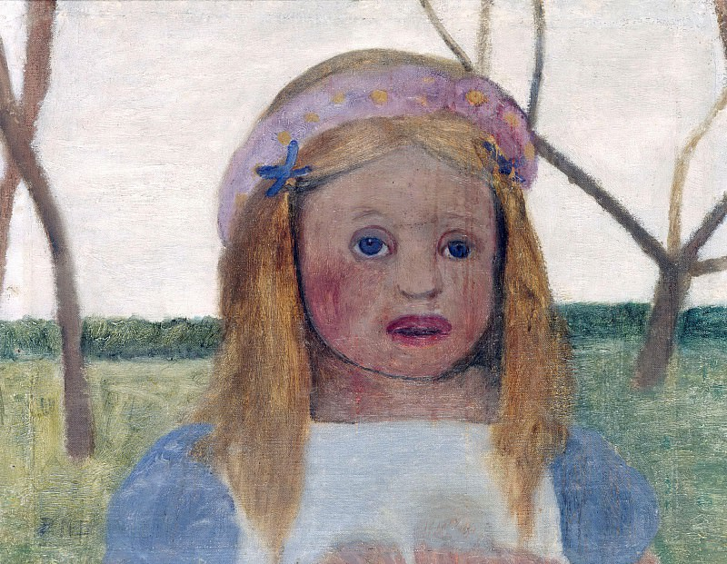 Girl with Garland of Flowers in her Hair. Paula Modersohn-Becker