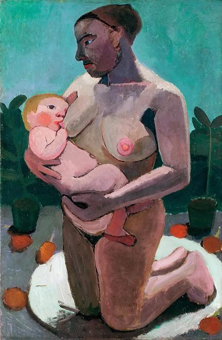 Kneeling Mother Nursing her Child. Paula Modersohn-Becker