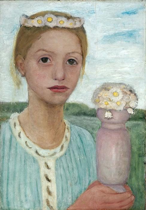 Girl with Garland of Flowers. Paula Modersohn-Becker