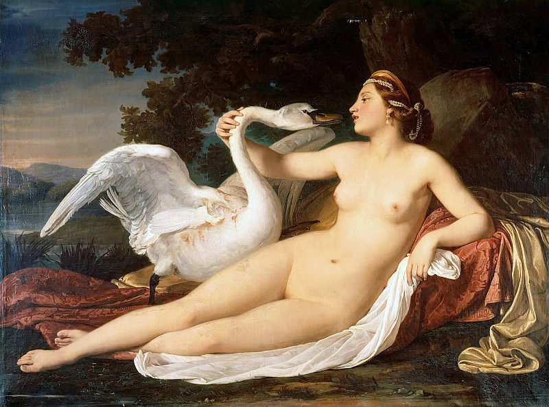 Leda and the Swan. Cesare Mussini