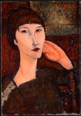 Adrienne (Woman with Bangs), 1917, NG Washington. Amedeo Modigliani