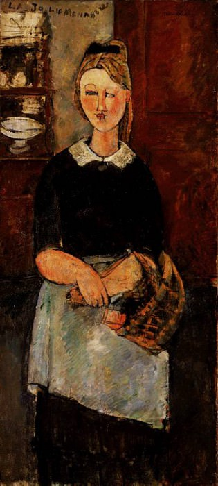 Modigliani The Pretty Housewife, 1915, Barnes foundation. Amedeo Modigliani