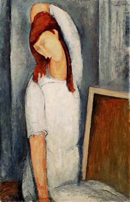 Modigliani Jeanne Hbuterne, Left Arm Behind her Head, 1919,. Amedeo Modigliani