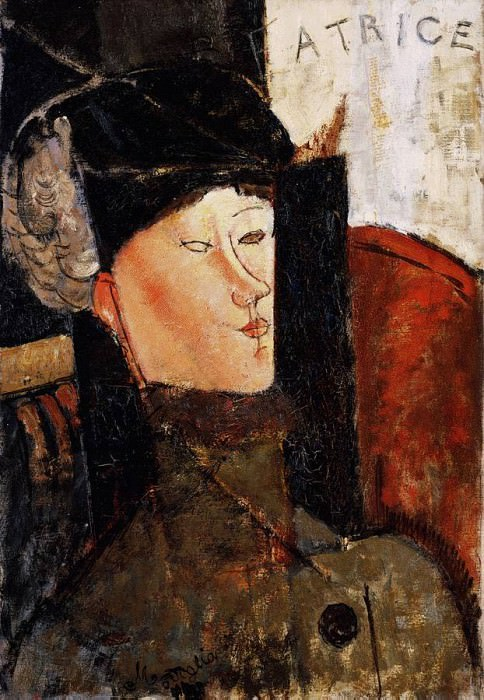 Modigliani Portrait of Beatrice Hastings, 1916, Barnes found. Amedeo Modigliani