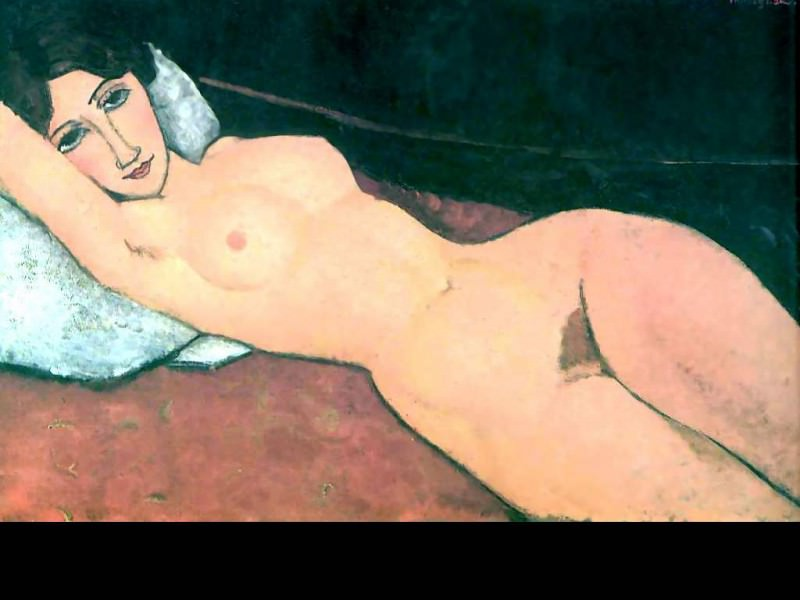 erotic art csg022 nude reclining. Amedeo Modigliani