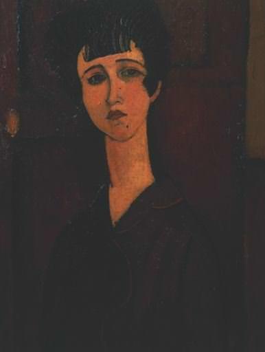 Modigliani Portrait of a girl, ca 1917, Tate gallery. Amedeo Modigliani
