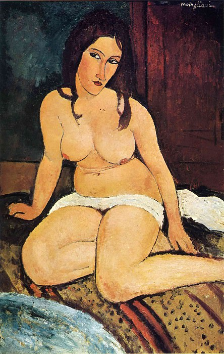 Sitting nude. Amedeo Modigliani