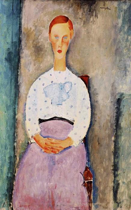 Modigliani Girl with Polka-Dot Blouse, 1919, Barnes foundati. Amedeo Modigliani