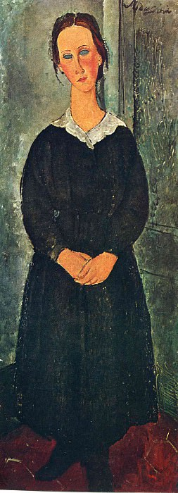 Служанка, 1919. Амедео Модильяни