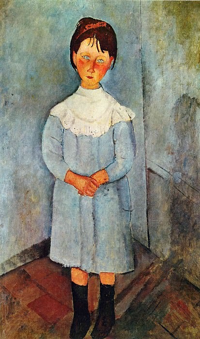 Girl in blue. Amedeo Modigliani