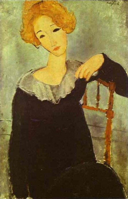 Рыжеволосая женщина, 1917. Амедео Модильяни