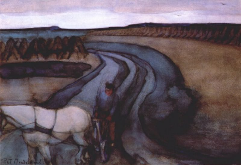 at work (on the land) 1898. Piet Mondrian