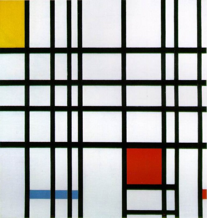 1921 Composition with Red, Yellow and Blue. Piet Mondrian