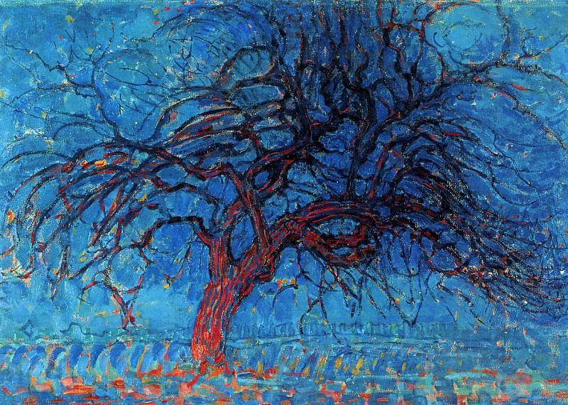 Piet The red tree. Piet Mondrian