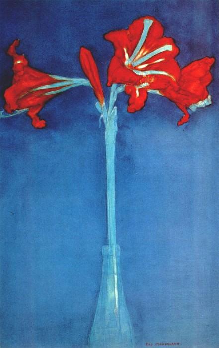 amaryllis 1910. Piet Mondrian