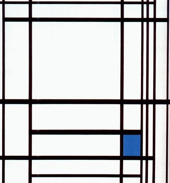 composition with blue 1937. Piet Mondrian