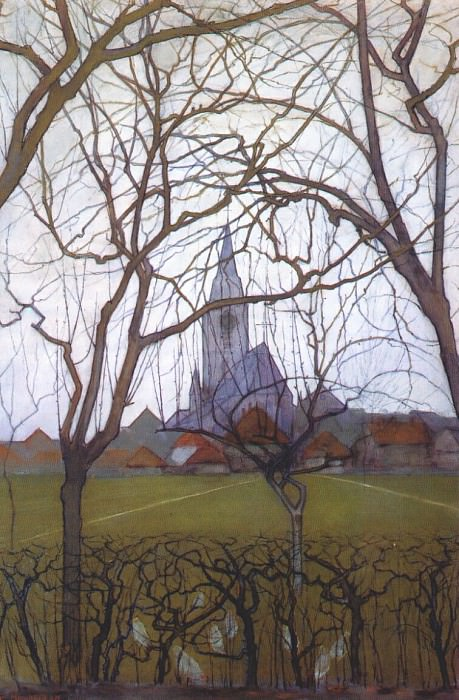 church c1898. Piet Mondrian