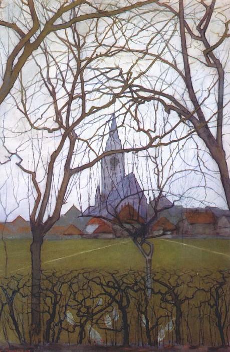 church c1898. Piet Mondrian