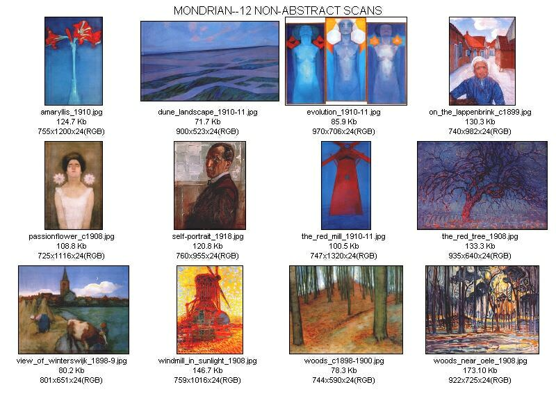 thumbnails mondrian non-abstract. Piet Mondrian