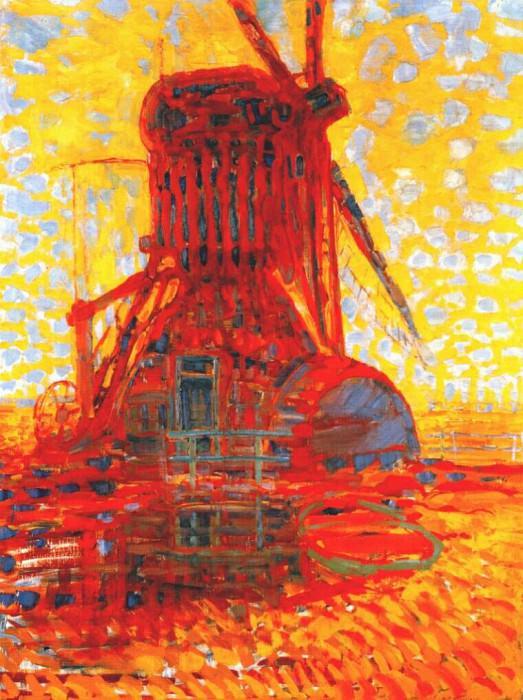 windmill in sunlight 1908. Piet Mondrian