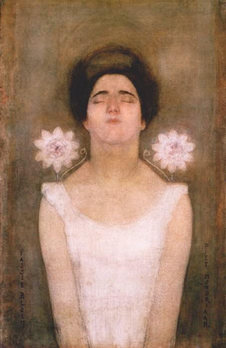 passionflower c1908. Piet Mondrian