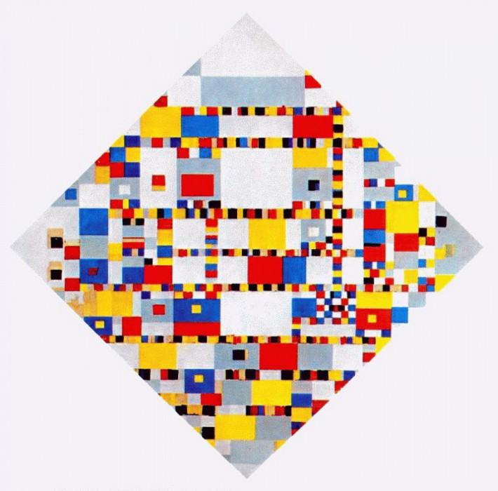 victory boogie-woogie 1942-4. Piet Mondrian