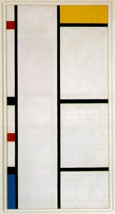 Композиция №III бело-желтая, 1935-42. Пит Мондриан