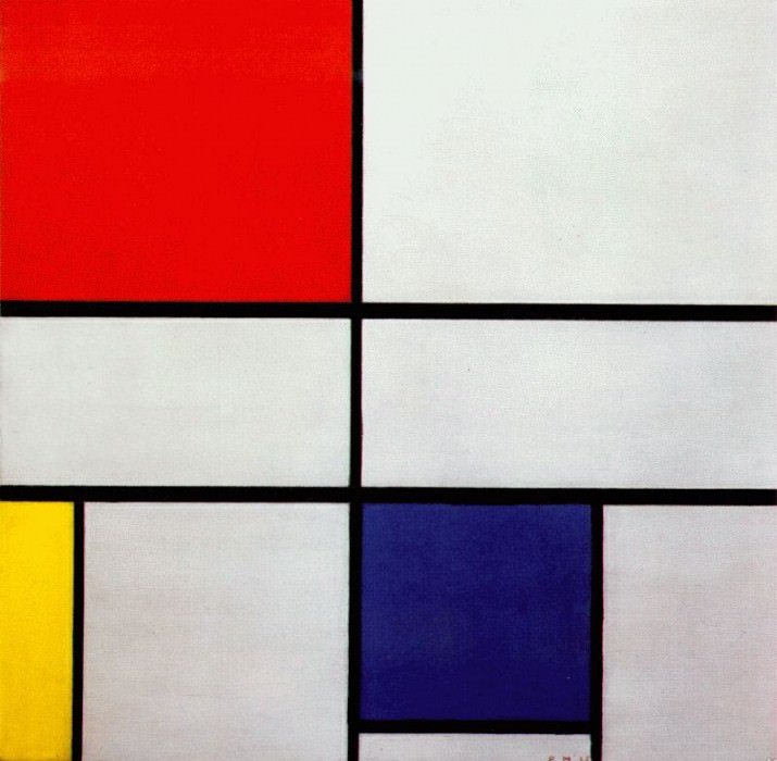composition with red yellow and blue 1935. Piet Mondrian