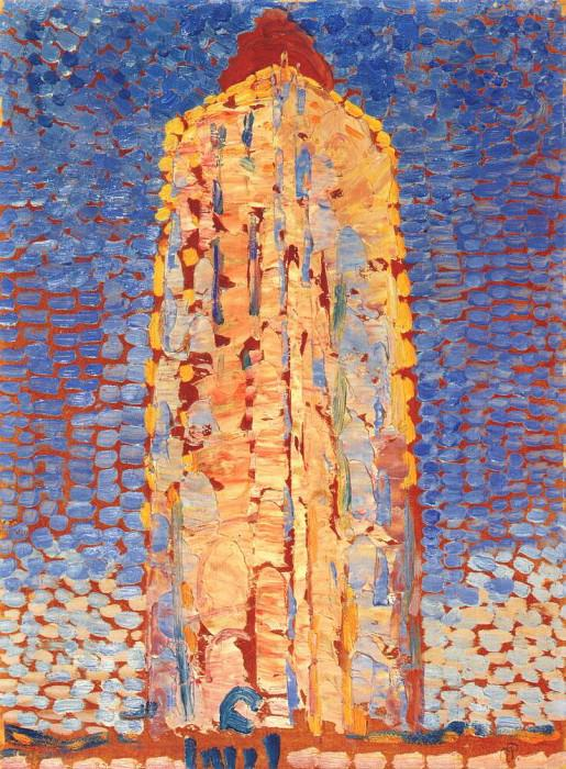 lighthouse in westkapelle 1909. Piet Mondrian