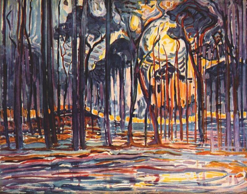 woods near oele 1908. Piet Mondrian