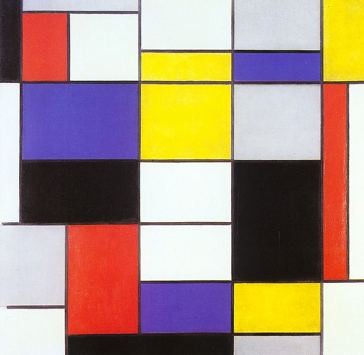 1923 Composition A. Piet Mondrian