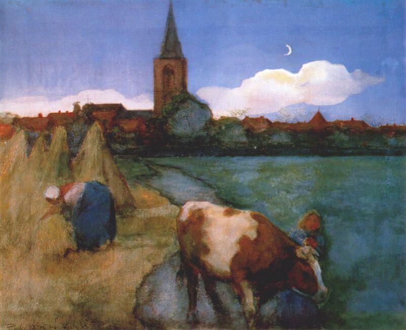 view of winterswijk 1898-9. Piet Mondrian