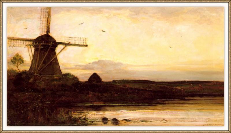 Le-Moulin-Effet-de-Soir. Piet Mondrian