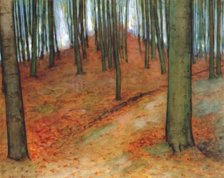 woods c1898-1900. Piet Mondrian