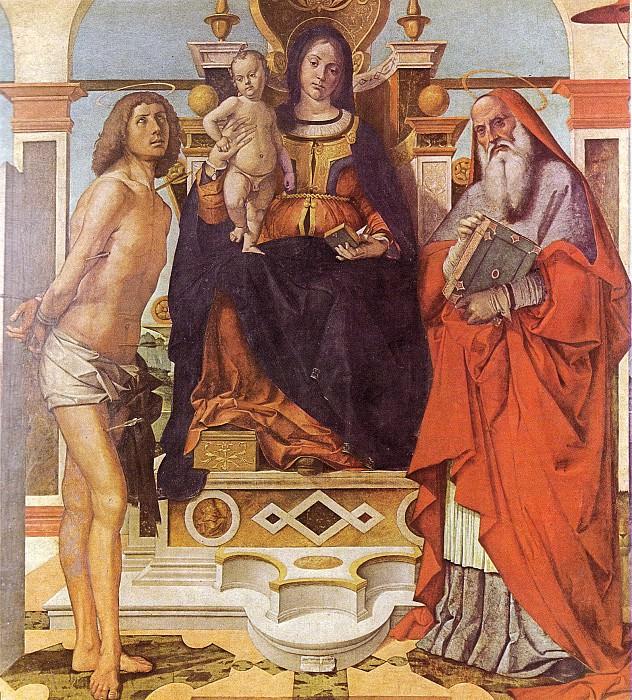 B.Montagna La Vergine S.Sebastiano e S.Girolamo. Bartolomeo Montagna
