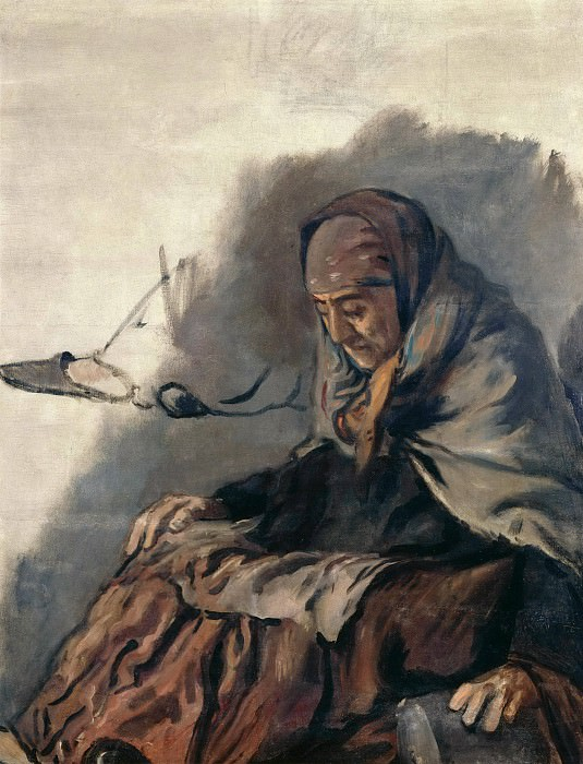 Old woman. Hans von Marees
