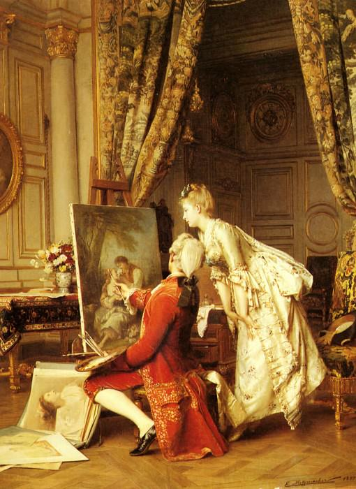 Metzmacher Emile Pierre The Artist And His Admirer. Emile Pierre Metzmacher