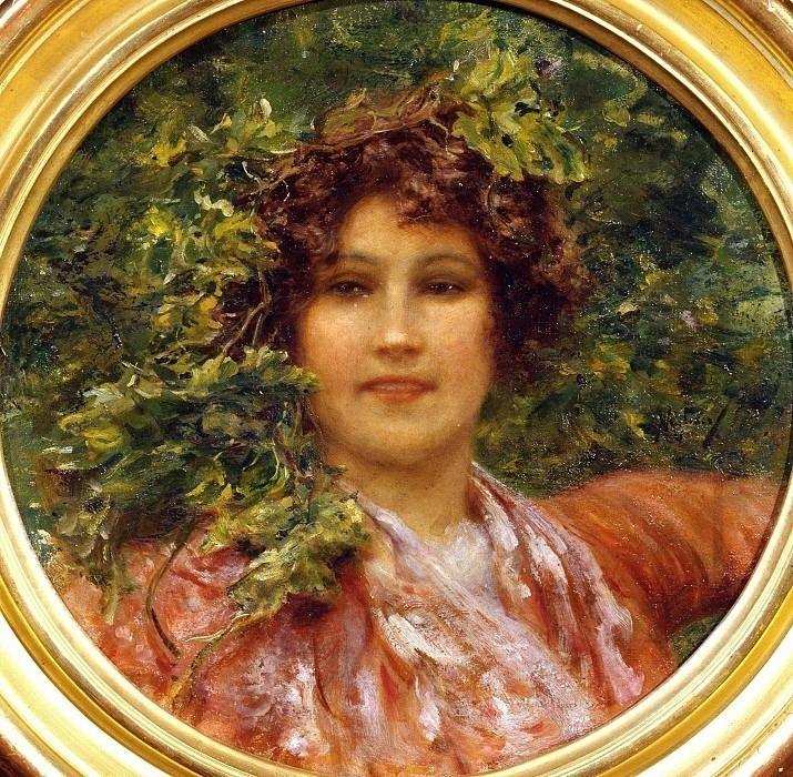 Портрет молодой неаполитанской женщины с побегами лозы. Винченцо Мильяро