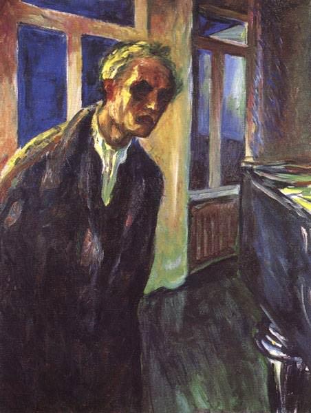 SJALVPORTRATT 2 OSLO, MUNCH MUSEET. Edvard Munch