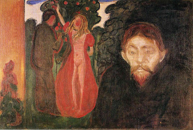 Ревность, 1895. Эдвард Мунк