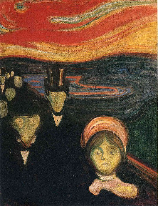 Anxiety. Edvard Munch