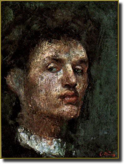 1866 Autoportrait. Edvard Munch