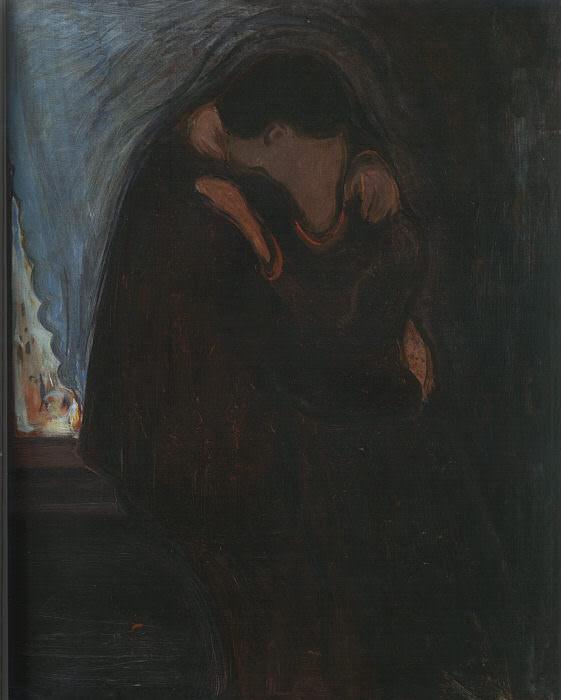 1897 The Kiss. Edvard Munch