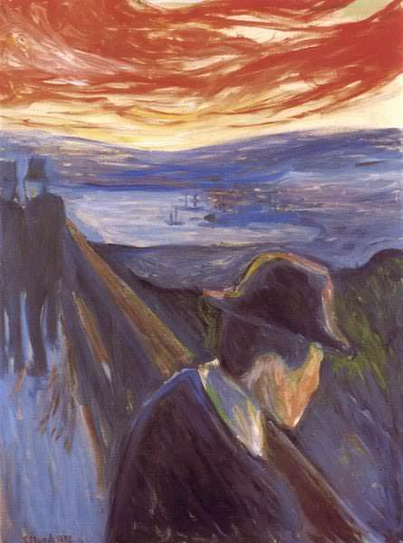 Fortvivlan,1892, STOCKHOLM THIELSKA. Edvard Munch