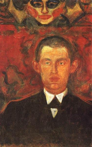 SJALVPORTRATT OSLO, MUNCH MUSEET. Edvard Munch