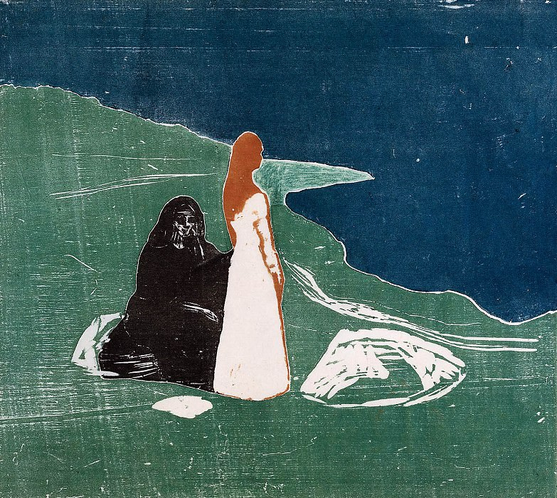 Women at the beach. Edvard Munch
