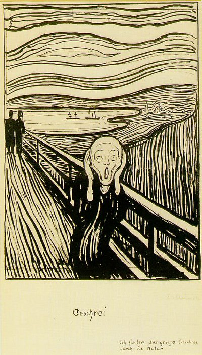 Skriet 1895, Litografi, Collection of Nelson Blitz, Jr. Edvard Munch