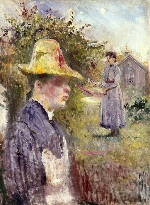 Edvard Sisters In The Garden. Edvard Munch