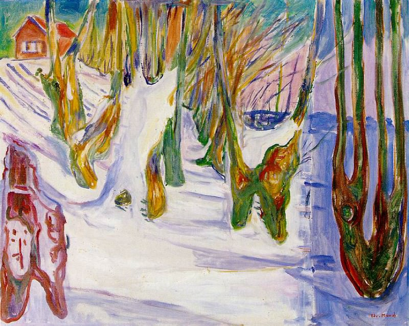 Old Trees c.1923-25, Private collection. Edvard Munch